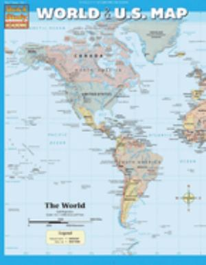 World And Us Map | College of Lake County Bookstore
