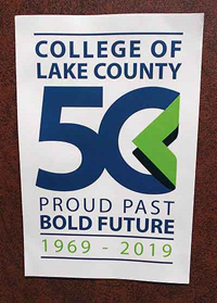 CLC 50th Anniversary Friction Hanger Decal
